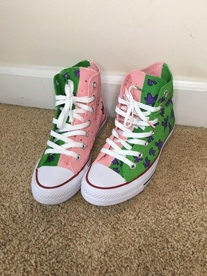 Custom Design High-Top Converse By Journey Madison