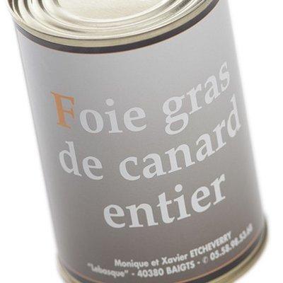 Foie Gras entier Boîte 370 g net