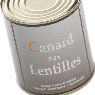 Canard cuisiné aux Lentilles