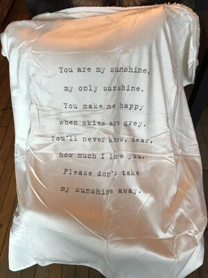 """""""You are my sunshine"""" blanket"""
