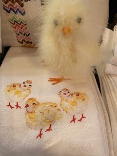 3 chicks tea towel
