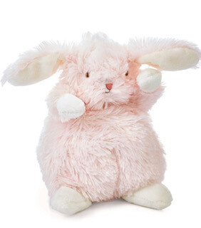 Pink cuddly bunny