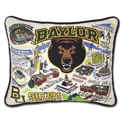 Baylor bUniversity pillow