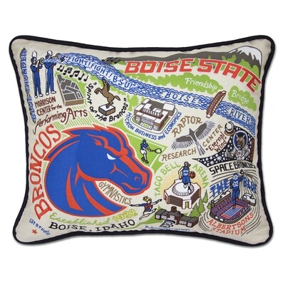 Boise State pillow