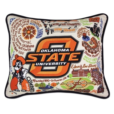 Oklahoma State University pillow