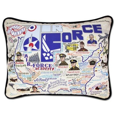 Air Force Hand embroidered pillow