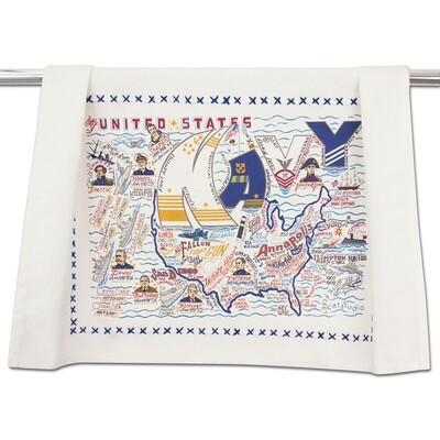 Navy dish towel (set of 6)