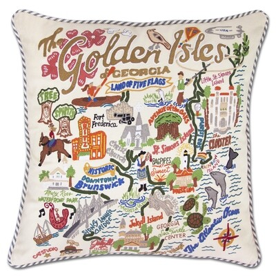 Golden Isles pillow