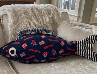 Syracuse University fish pillow