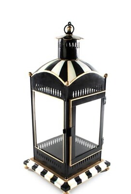 Black and white lantern large-SOLD OUT