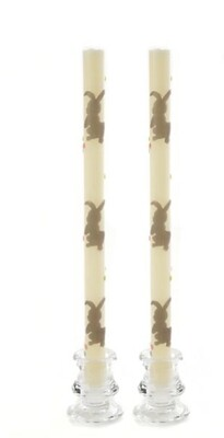 Bunny tapers- set of 2