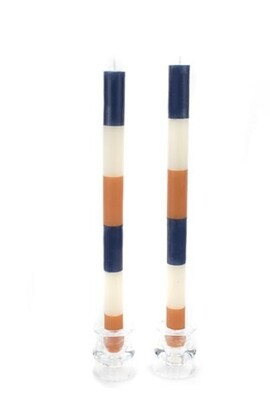 Blue & orange tapers