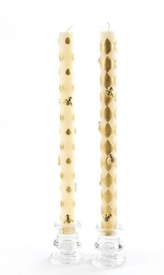 Gold Bee tapers-set of 2