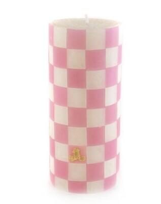 Pink & white pillar