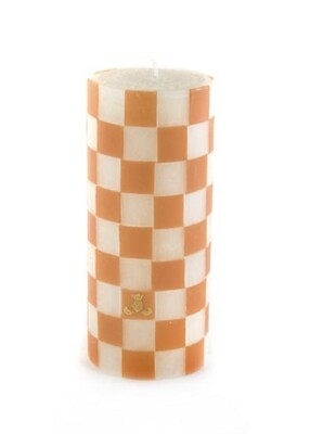 "Orange and white pillar-6"" high"