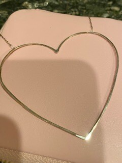 Sterling silver heart on silver chain