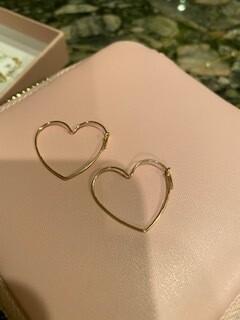 small heart gold earrings