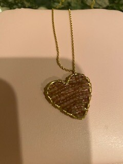 Pink drop necklace