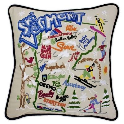 Ski Vermont pillow