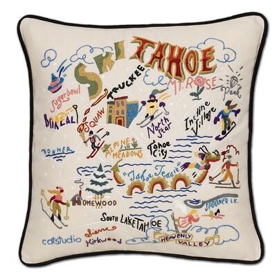 Ski Tahoe pillow