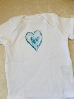 Blue heart onesie