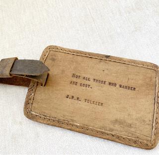 J.R.R. Tolkien luggage tag