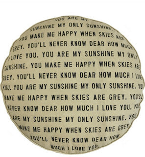 """""""You are my sunshine"""" pouf/dog bed"""