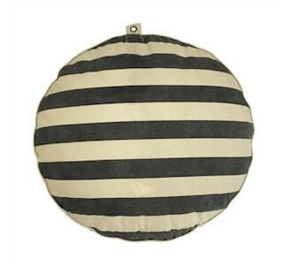 stripe/dot dog bed