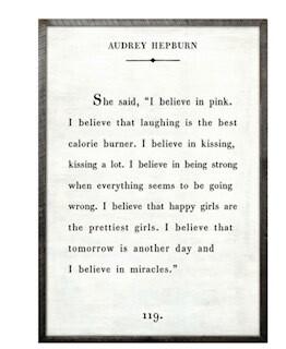 Audrey Hepburn art print