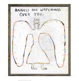"""""""Angels are watching over you."""" art print."""