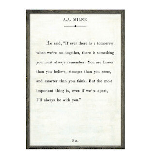 """""""If there ever is a tomorrow, when we're not together..."""" AA Milne"""