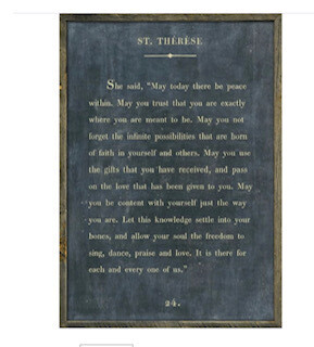 St. Therese print