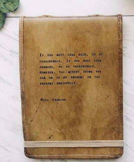 Maya Angelou journal-sold out