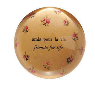 """""""Friends for life"""" Paperweight"""