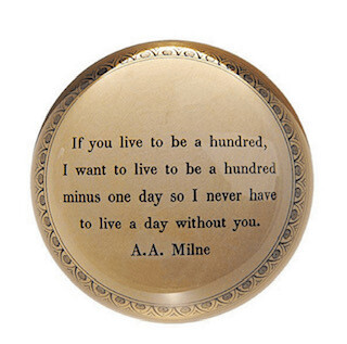 A.A. Milne Paperweight