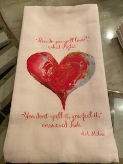 Piglet heart towel