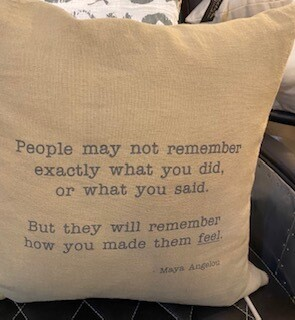 Maya Angelou pillow