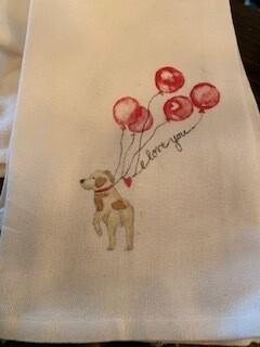 I love you dog, towel