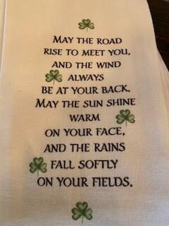 Irish blessing towel