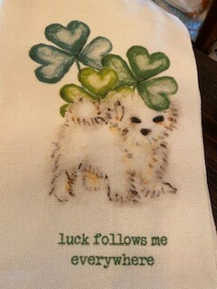 Luck follows me, towel