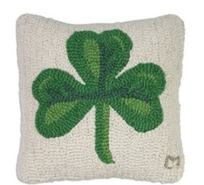 Medium shamrock pillow