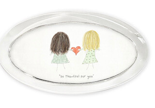 """""""So thankful for you"""" oval paperweight"""