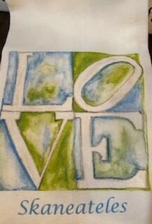 Love Skaneateles tea towel-sold out
