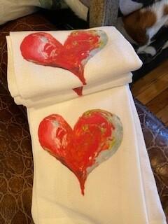 Beautiful heart towel