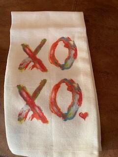 xoxo tea towel