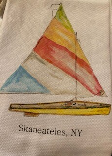Sail Skaneateles towel-sold out