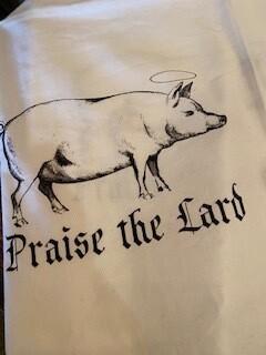 """Praise the Lard"" towel"