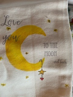 Moon and back towel