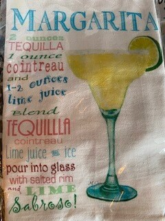 Margarita recipe towel