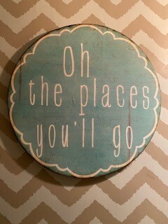 """""""oh the places you'll go"""" wall art-SOLD OUT"""